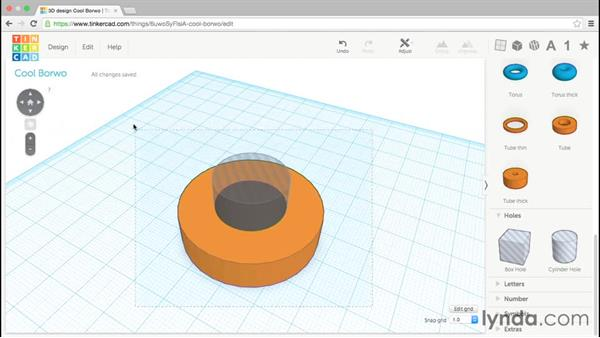 Using hole objects: Up and Running with Tinkercad