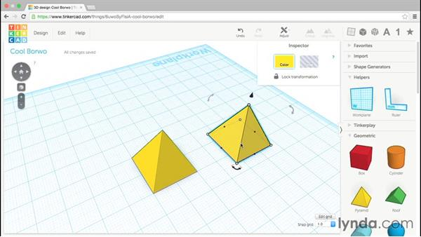 Options for copying: Up and Running with Tinkercad