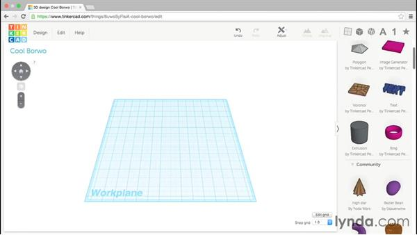 The text generator: Up and Running with Tinkercad