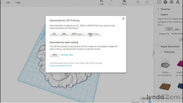 Downloading a design: Up and Running with Tinkercad