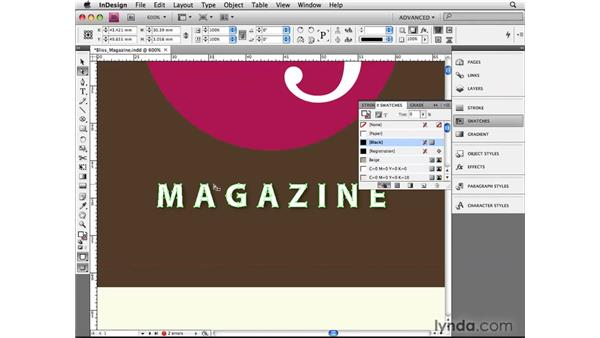 Setting compound paths: InDesign CS4 Beyond the Basics