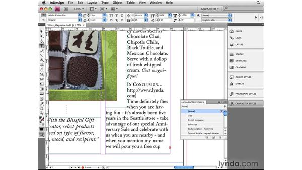 Using other languages: InDesign CS4 Beyond the Basics