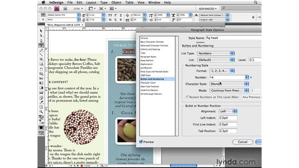 Setting advanced paragraph numbering: InDesign CS4 Beyond the Basics