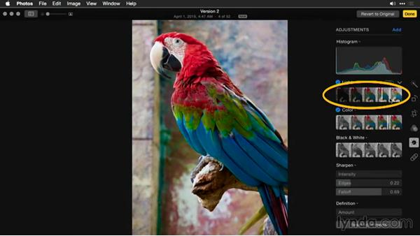 Reverting an image to its original state: Enhancing Images with Photos for OS X