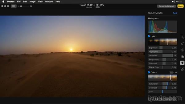 Recovering highlights and shadows: Enhancing Images with Photos for OS X