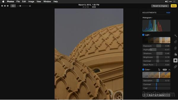 Setting the black point for crisp blacks: Enhancing Images with Photos for OS X