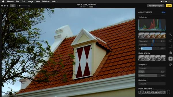 Solution: Controlling color and color casts: Enhancing Images with Photos for OS X
