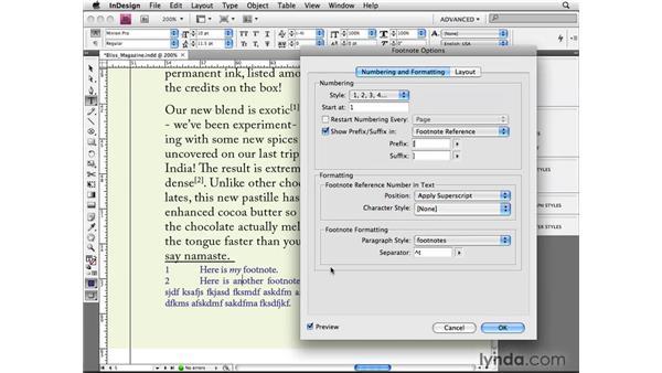 Adding footnotes: InDesign CS4 Beyond the Basics