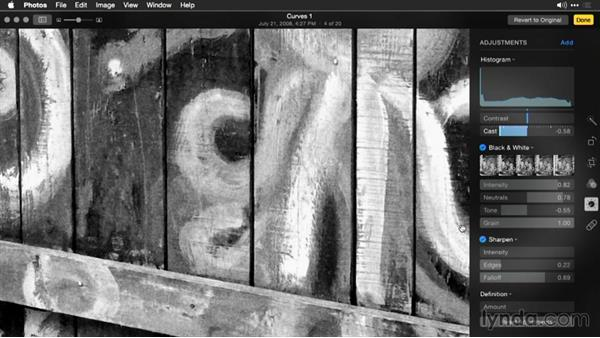 Stylizing with grain effects: Enhancing Images with Photos for OS X
