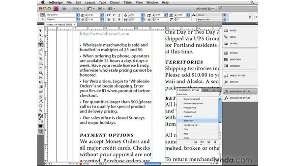 Advanced text styling: InDesign CS4 Beyond the Basics