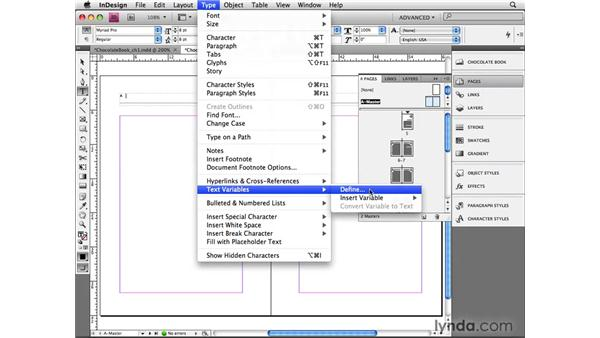 Using the Section Marker feature: InDesign CS4 Beyond the Basics