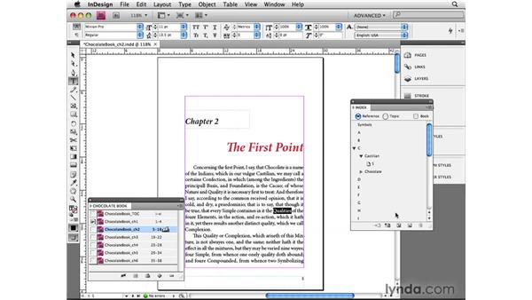 Indexing documents: InDesign CS4 Beyond the Basics