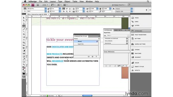 Creating hyperlinks: InDesign CS4 Beyond the Basics