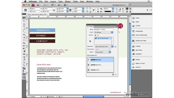 Creating buttons: InDesign CS4 Beyond the Basics