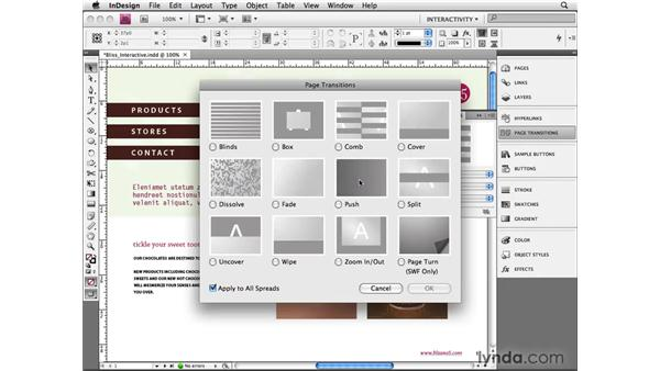 Setting page transitions: InDesign CS4 Beyond the Basics