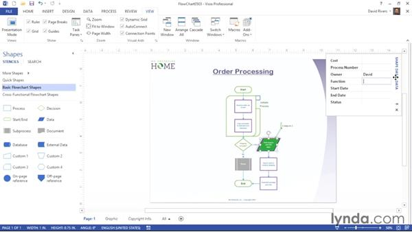 Showing and hiding task panes: Visio 2013 Essential Training