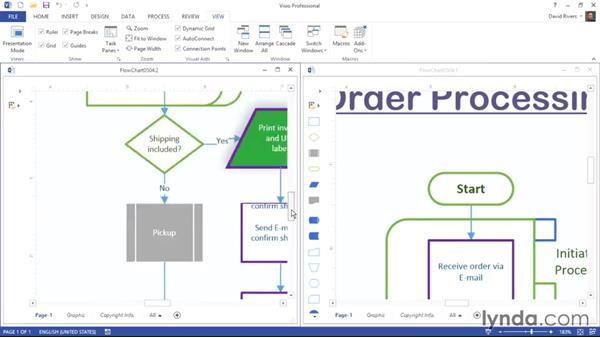 Working with windows in Visio: Visio 2013 Essential Training