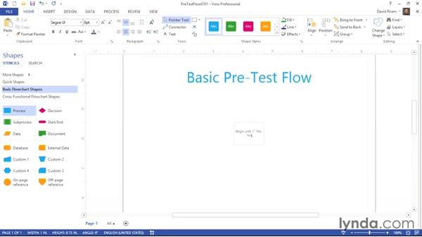 How adding SmartShapes can create layers: Visio 2013 Essential Training