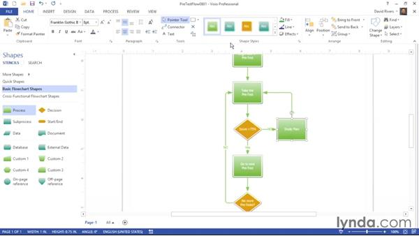 The difference between themes and styles: Visio 2013 Essential Training