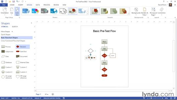 Applying themes, colors, and effects: Visio 2013 Essential Training