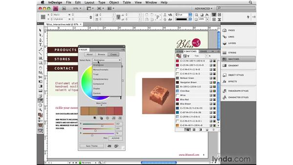 Using the Kuler panel: InDesign CS4 Beyond the Basics