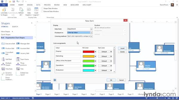 Applying data graphics: Visio 2013 Essential Training