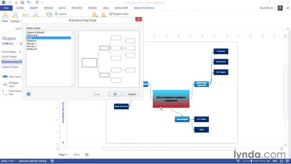 Changing the layout and design: Visio 2013 Essential Training