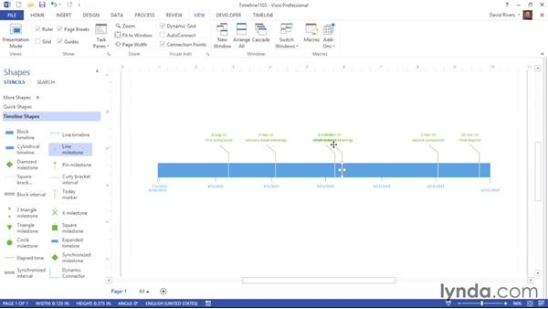 Dealing with text collisions: Visio 2013 Essential Training