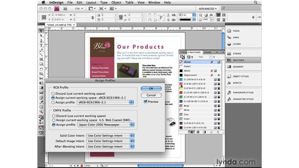 Assign Profile and Convert to Profile: InDesign CS4 Beyond the Basics