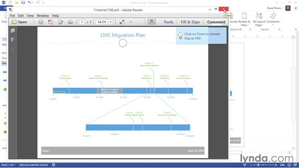 Sharing your timeline: Visio 2013 Essential Training