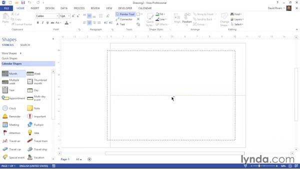 Creating a monthly calendar: Visio 2013 Essential Training