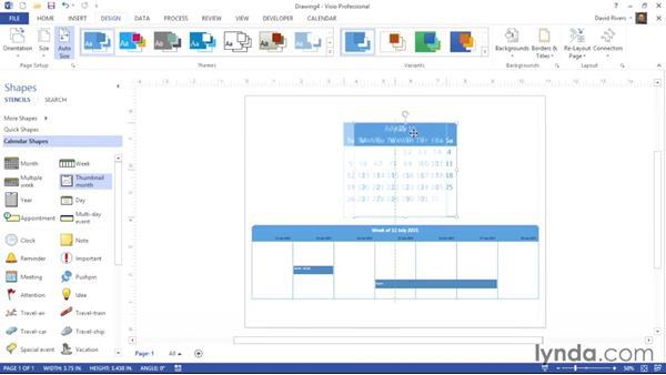 Creating a weekly calendar: Visio 2013 Essential Training