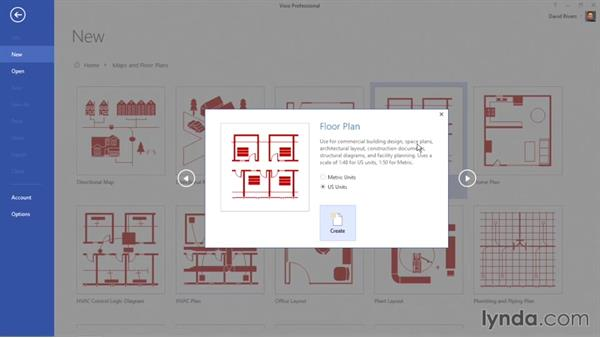 Creating a floor plan diagram: Visio 2013 Essential Training