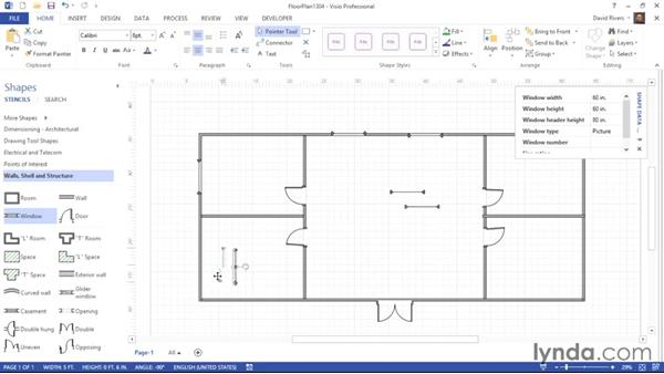 Adding other structural elements: Visio 2013 Essential Training