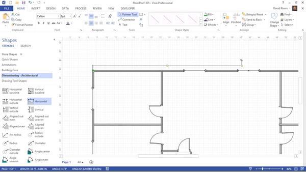 Adding dimensions: Visio 2013 Essential Training