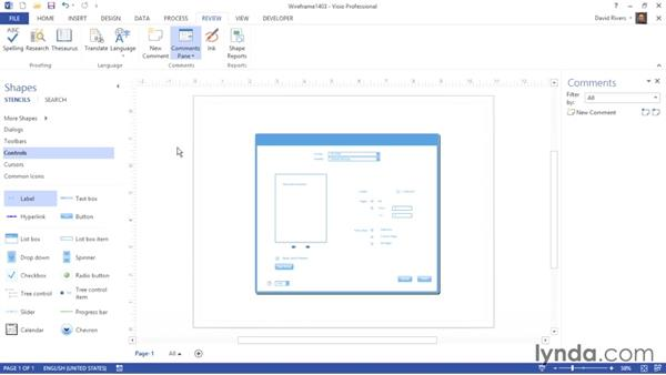 Collaborating and tracking changes: Visio 2013 Essential Training