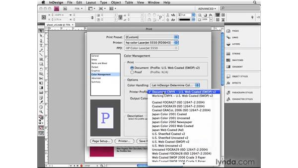 Managing color at print time: InDesign CS4 Beyond the Basics