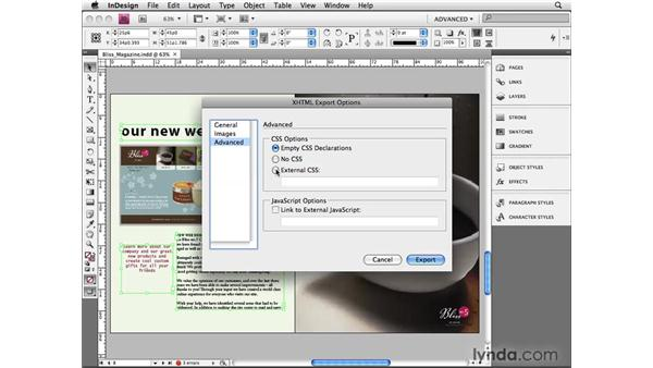 Exporting to XHTML: InDesign CS4 Beyond the Basics