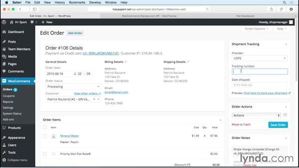 Managing orders: WordPress Ecommerce