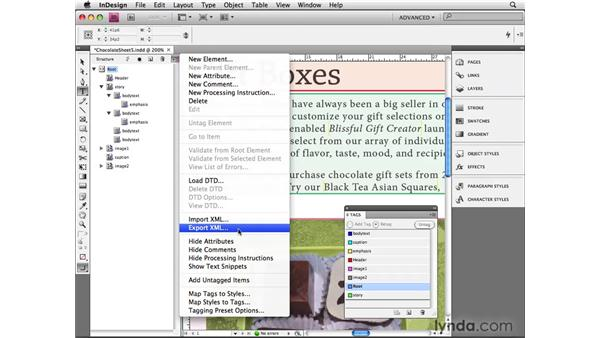 Exporting to XML: InDesign CS4 Beyond the Basics