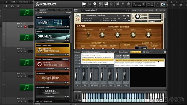 Multi-output routing in Logic: Advanced Instrumentation and Sound Design with KONTAKT