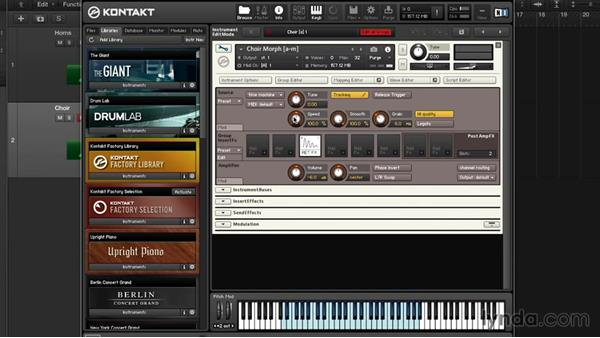 Time stretching: Precision and destruction: Advanced Instrumentation and Sound Design with KONTAKT