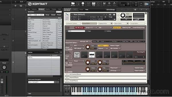 Layering multiple groups and customizing an instrument: Advanced Instrumentation and Sound Design with KONTAKT