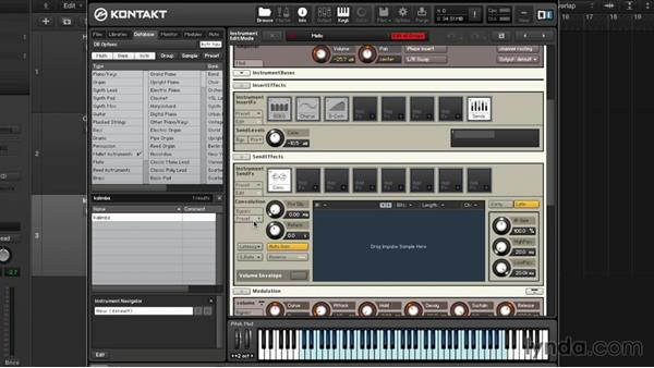 Instrument and buss FX: Advanced Instrumentation and Sound Design with KONTAKT