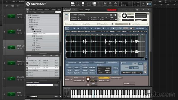 Audio editing in the Wave Editor: Advanced Instrumentation and Sound Design with KONTAKT