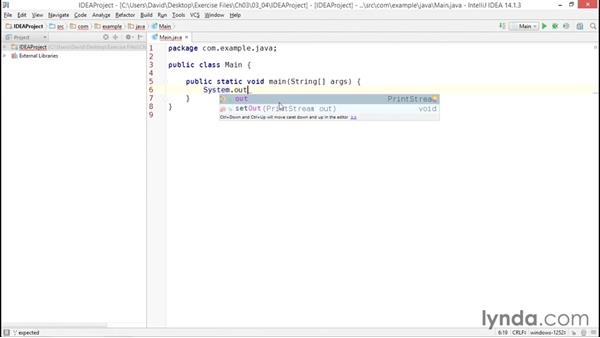 Creating a Java project in IntelliJ IDEA: Java Essential Training