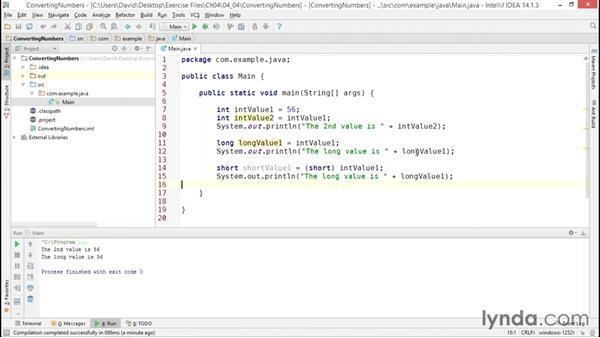 Converting numeric values: Java Essential Training