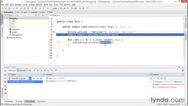 Debugging with IntelliJ IDEA: Java Essential Training