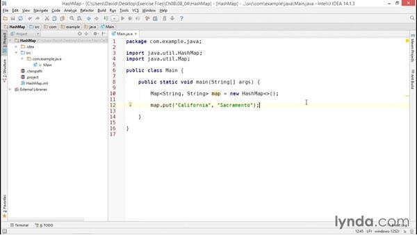 Managing unordered data with HashMap: Java Essential Training