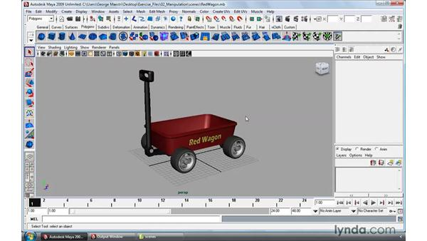 Selecting objects: Maya 2009 Essential Training